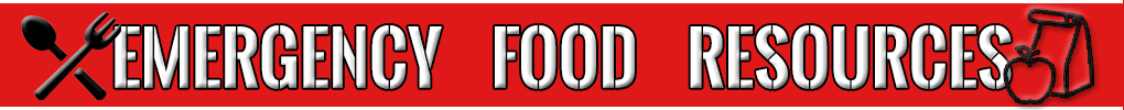 Banner-style graphic for the Emergency food Resources Locator